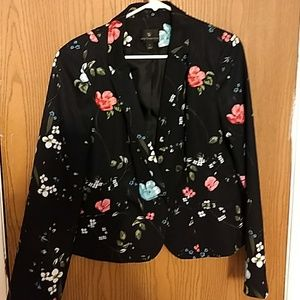 Worthington size large floral print black Blazer